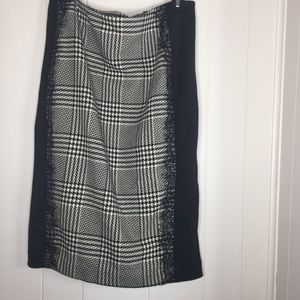 NWOT 7th Avenue Houndstooth pencil skirt size 8